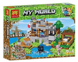 Конструктор Майнкрафт Береговая цитадель 3в1 Minecraft My World Lele 33191 517 деталей