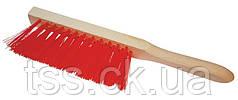 Щітка для сміття з дерев'яною ручкою 295*25*60 мм ПП 3-рядна ГОСПОДАР 14-5500