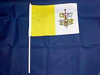 Флажок Ватикана 14х21см на пластиковом флагштоке