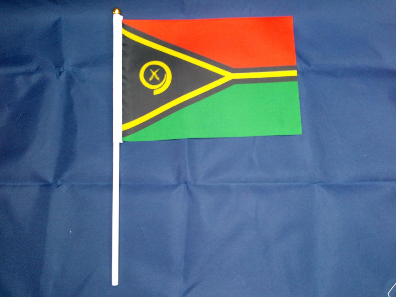 Флажок Вануату 14х21см на пластиковом флагштоке
