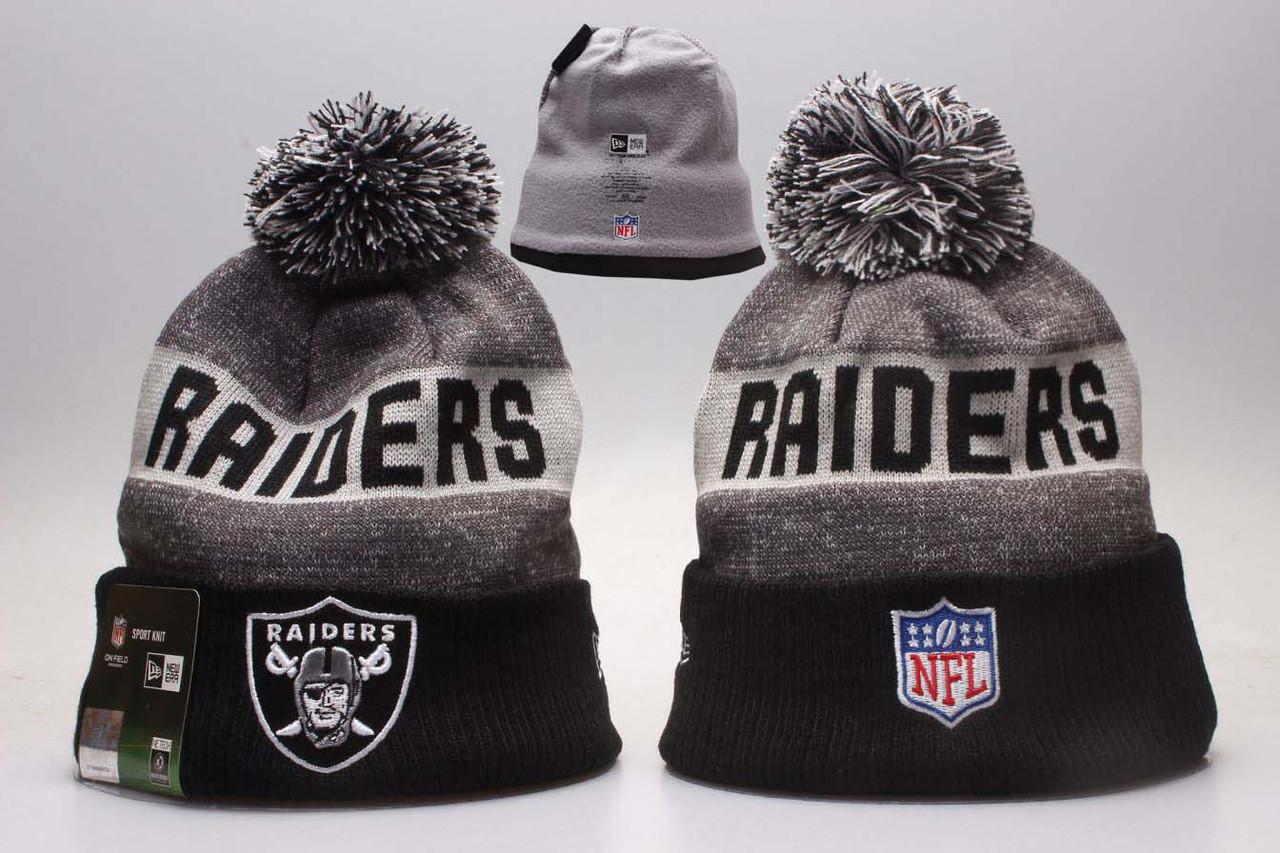 Шапка зимняя Oakland Raiders / SPK-116 (Реплика)