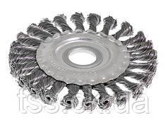 Щітка дискова D125 з батоги. дроту отв. 22,2 мм MASTERTOOL 19-9012