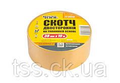 Скотч двусторонний на тканевой основе MASTERTOOL 38 мм 10 м 77-6810