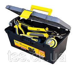 "Ящик для инструмента MASTERTOOL 16"" (395х223х165 мм) пластиковые замки 79-2216"