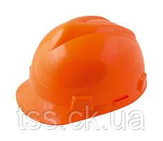 """Каска строительная """"V"""", оранжевая (строители) MASTERTOOL 81-1006"""