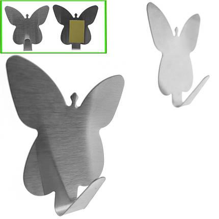 """Гачки на липучці з нержавійки 2шт. """"Метелик"""" на 3кг, фото 2"""