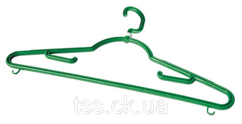 Вешалка для одежды ГОСПОДАР Т6 43 см с поворотным крючком 92-0160
