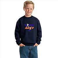 Детский свитшот c машинкой Влад А4 большое лого. Кофта для мальчиков и девочек VLAD А4