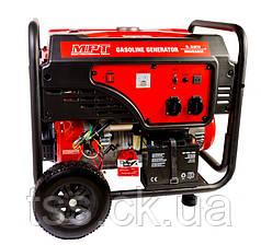 Генератор бензиновий PROFI 5,5 кВт, 389 см3, повітр.д., ел.+ручний стартер, бак 25 л, MPT MGG5503E