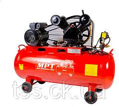 Компрессор PROFI 100 л, 2200 Вт/3 л.с., 1080 об/мин, 250 л/мин, 8 атм, медная обмотка MPT MAC30103B