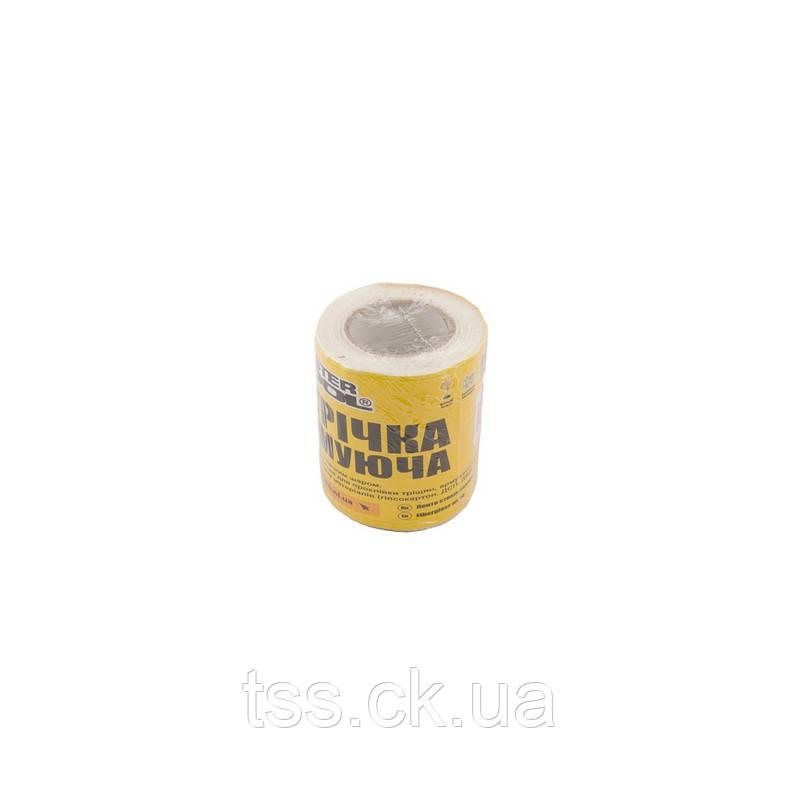 Стрічка склотканева з липким шаром 100 мм*20 м 8*8 60г/м. кв MASTERTOOL 08-9406