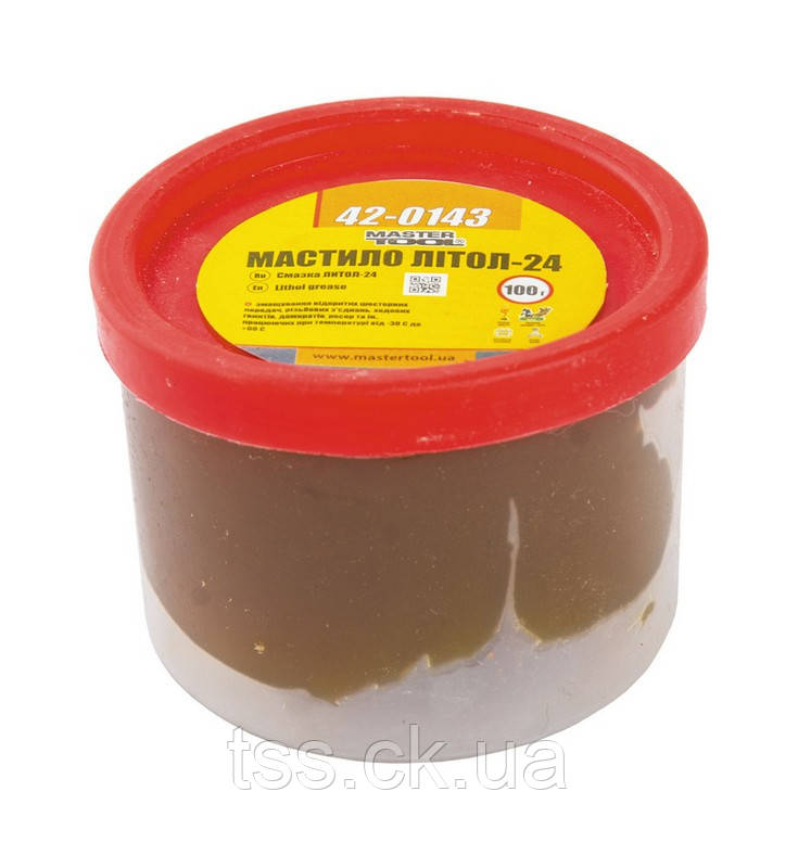 Смазка литол-24 100 г, полиэтилен MASTERTOOL 42-0143