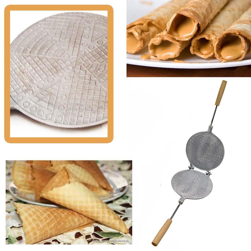 Форма для випічки вафель і вафельних коржів — Вафельниця кругла 180 мм