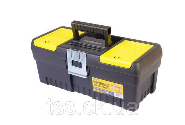 """Ящик для инструмента MASTERTOOL 14"""" (355х165х145 мм) металлические замки 79-2514, фото 2"""