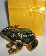 Шкатулка лягушка , прикольный подарок