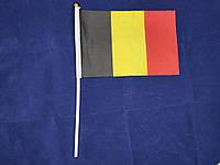 Флажок Бельгии 14х21см на пластиковом флагштоке