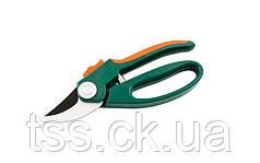 Секатор садовый 200 мм, ручки ABS+TPR, лезвие Mn65+ТЕФЛОН MASTERTOOL 14-6119