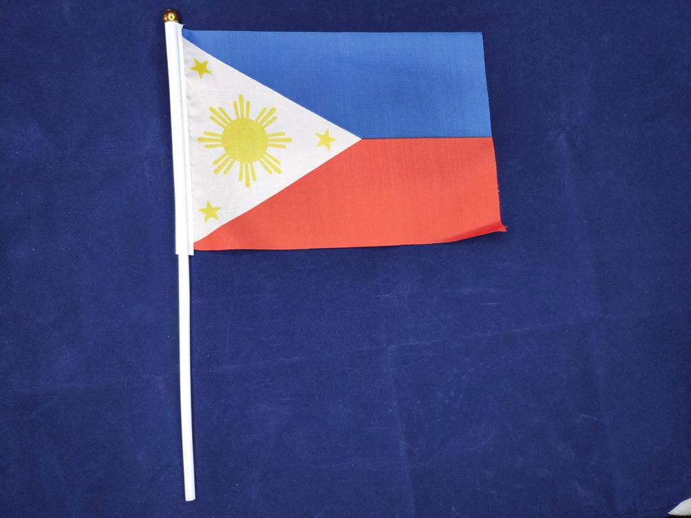 Флажок Филиппин 14х21см на пластиковом флагштоке