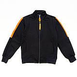 Костюм спортивный для мальчика р.128,140 SmileTime Rider, синий с оранжевым, фото 3
