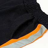Костюм спортивный для мальчика р.128,140 SmileTime Rider, синий с оранжевым, фото 5