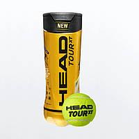 Новые мячи Head TOUR XT для большого тенниса 3 мяча в банке