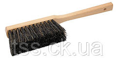 Щітка для сміття з дерев'яною ручкою 370*40*70 мм ПП+кінський волос 5-рядна ГОСПОДАР 14-6363