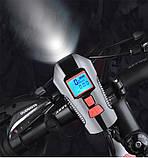 Велосипедная фара + Спидометр, Пульт, Клаксон и LSD Дисплей (800лм, IPX7, USB, Встроенная батарея 1500mAh), фото 7