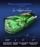 Велосипедная фара + Спидометр, Пульт, Клаксон и LSD Дисплей (800лм, IPX7, USB, Встроенная батарея 1500mAh), фото 5