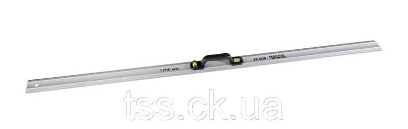 Лінійка будівельна 120 см AL з ручкою, 2 капсули MASTERTOOL 39-5120