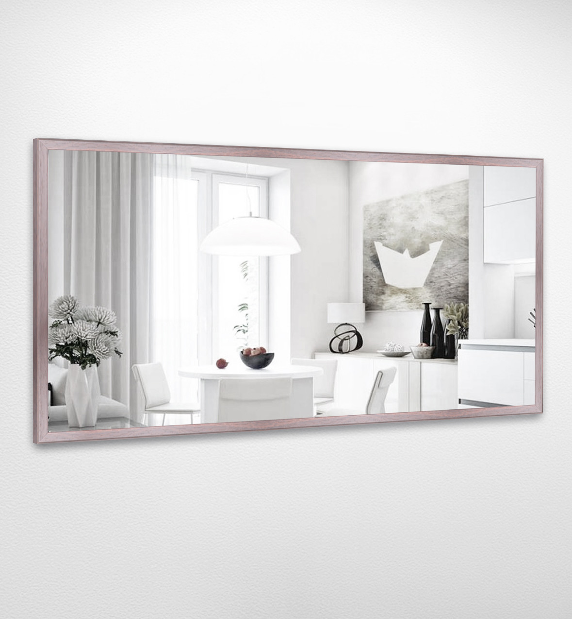 Настенное зеркало БЦ Стол Адель прямоугольное B14 дерево орех