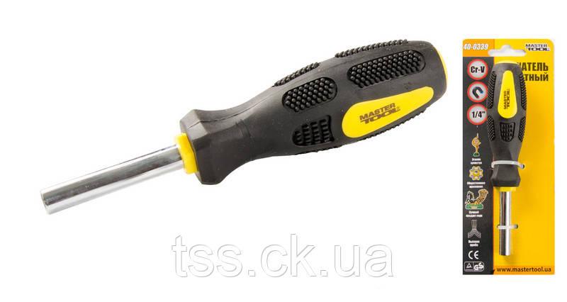 """Тримач магнітний з ручкою 1/4"""" 160 мм MASTERTOOL 40-0339"""