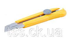Нож 25 мм ABS пластик с металлической направляющей с магнитом винтовой замок MASTERTOOL 17-0325