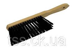 Щітка для сміття з дерев'яною ручкою 295*25*70 мм ПП 3-рядна ГОСПОДАР 14-6370