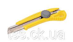 Нож 18 мм ABS пластик с металлической направляющей  винтовой замок MASTERTOOL 17-0328