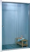 7053F-150 (1500х1800мм). Штора для ванной KO&PO. Профиль сатин. Стекло матовое