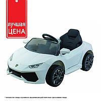 Лучшая цена! Детский электромобиль Lamborghini (2 мотора по 30W, 2 аккум, MP3) Baby Tilly T-7655 EVA WHITE