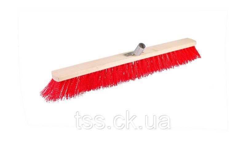 Щітка промислова 600*70*95 мм ПЕ+ПВХ дерев'яна з мет.крепл. без ручки ГОСПОДАР 14-6358