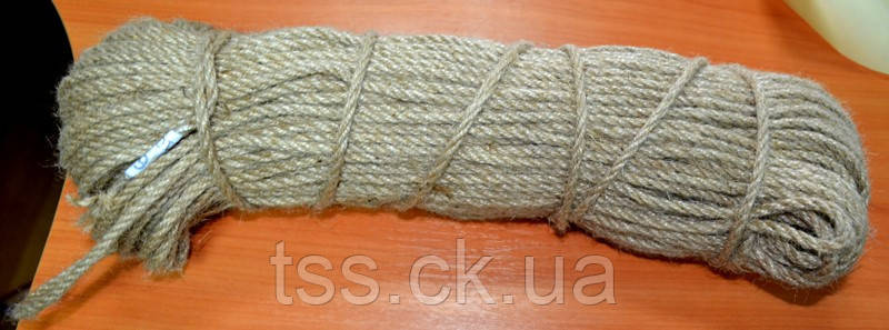 Канат джутовый Ø  6,0 мм 100 м ГОСПОДАР 92-0511