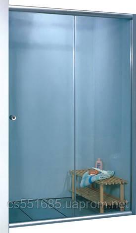 7053F-170 (1700х1800мм). Штора для ванной KO&PO. Профиль сатин. Стекло матовое