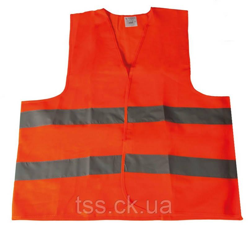 Жилет зі светоотражающей стрічкою помаранчевий XL MASTERTOOL 83-0002