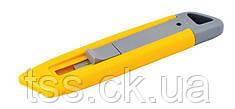 Нож трапеция пластиковый, безопасное лезвие MASTERTOOL 17-0301
