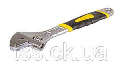 Ключ разводной MASTERTOOL 200 мм 0-31 мм с двухкомпонентной ручкой переставная губка 76-0422