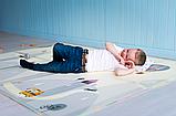 """Дитячий термо килимок складний ігровий двосторонній """"Повітряна куля - Тварини"""" 200х180 см +чохол, фото 4"""