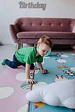 """Дитячий термо килимок складний ігровий двосторонній """"Повітряна куля - Тварини"""" 200х180 см +чохол, фото 8"""
