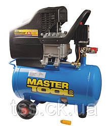 Компрессор 24 л, 1,8 кВт, 206 л/мин. 8 атм, 2 выхода MASTERTOOL КПП-24-1