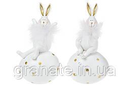 Декоративная фигурка Кролик с яйцом 14см, 2шт