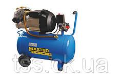 Компрессор 50 л, 3,0 кВт, 420 л/мин. 8 атм, 2 выхода MASTERTOOL КПП-50-2