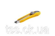 Нож 18 мм ABS пластик с металлической направляющей винтовой замок 3 лезвия MASTERTOOL 17-0102