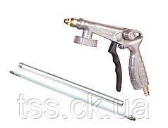 Пневмопистолет для гравитекса, Ø 5 мм, 270 л/мин, 2-4 бар + гибкий шланг 30 см MASTERTOOL 81-8702