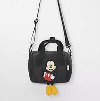 Спортивная сумка через плечо черная Disney с Микки маус